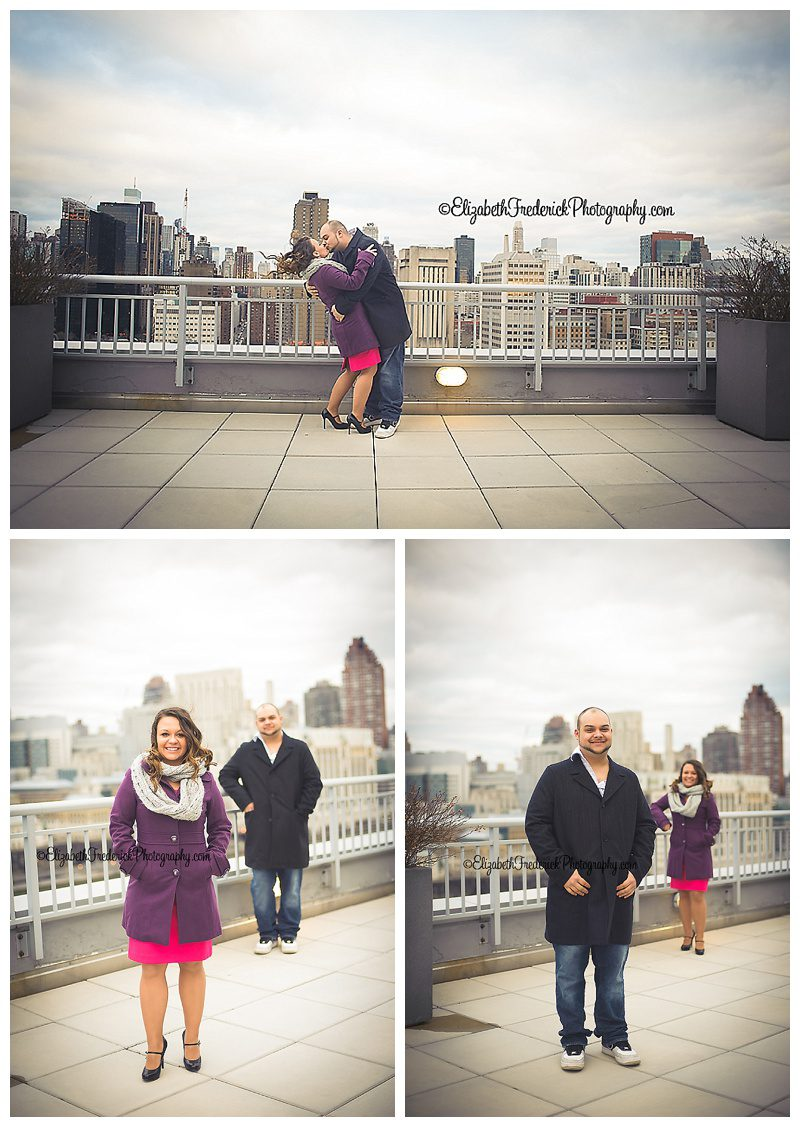 NYC Rooftop Engagement   New York City NYC Engagement Session   CT Wedding Photographer Elizabeth Frederick Photography specializing in NY Engagement Session, CT Wedding Photography, CT Engagement Photography