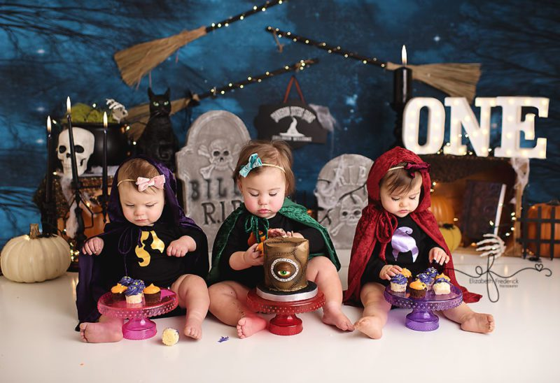 Hocus Pocus Smash Cake First Birthday Photography session | CT Baby Photographer Elizabeth Frederick Photography
