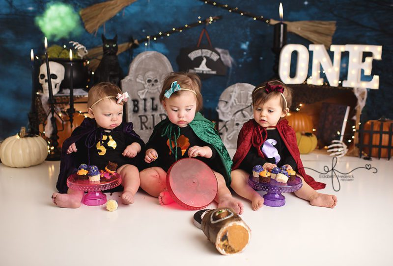 Sanderson Sister Hocus Pocus Smash Cake Photography Session with Elizabeth Frederick Photography CT Photographer