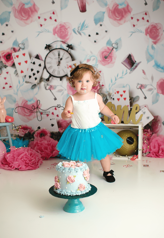 Alice In Wonderland Ct Smash Cake Photographer Elizabeth Frederick Photography