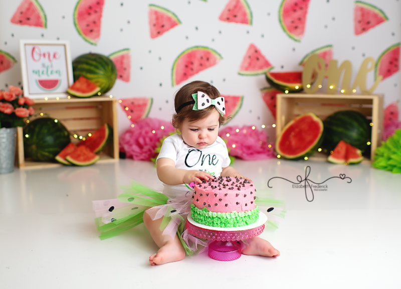 One in a Melon Smash Cake photography session CT Photographer Elizabeth Frederick photography