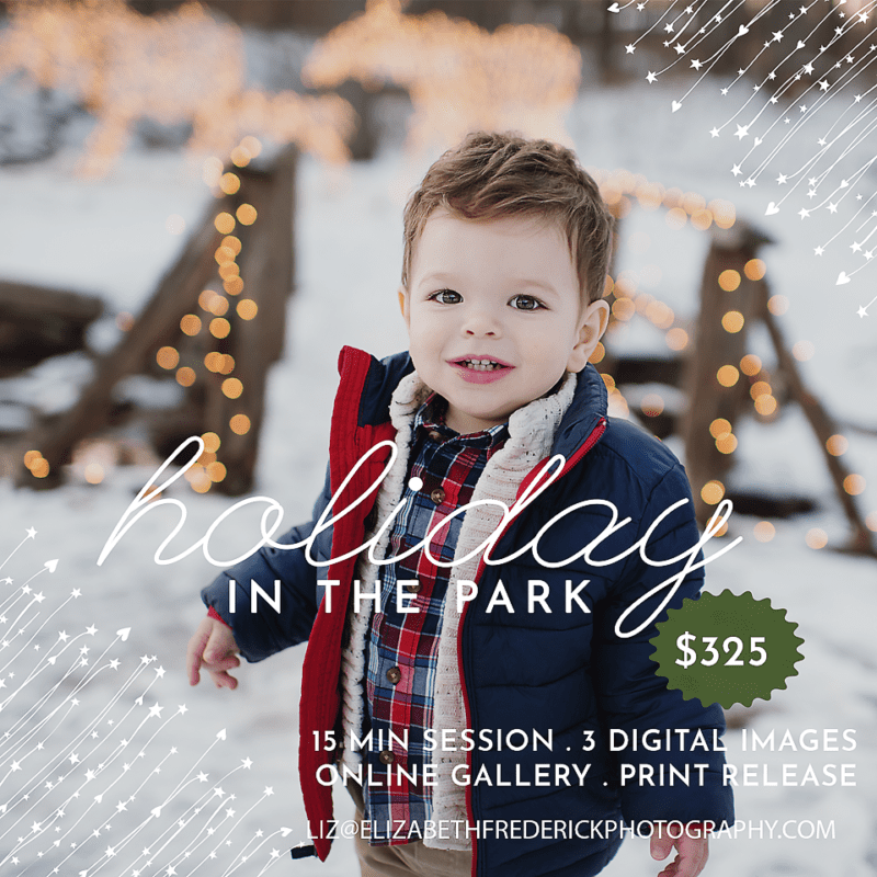 CT Christmas Holiday Mini Session Photographer CT Baby Family Photographer Elizabeth Frederick Photography