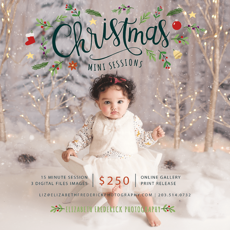 CT Christmas Holiday Mini Session Photographer Elizabeth Frederick Photography | CT Mini Session Photographer